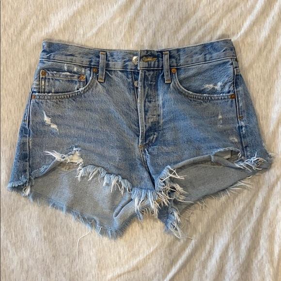 Agolde Parker denim shorts